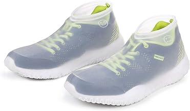 VLCOO Cubierta del Zapato, Cubierta del Zapato Impermeable, Funda de Silicona para Zapatos con Suela Antideslizante, Lavable Cubierta del Zapato Reutilizable Para Días de Lluvia y Nieve