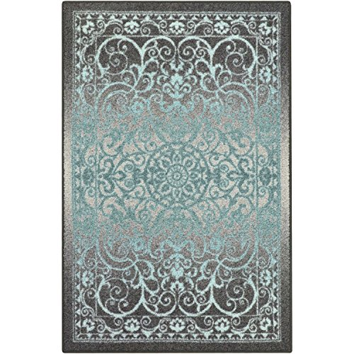 Maples Rugs Area Rug - Pelham 7 x 10 Large Area Rugs [Made in USA] for Living Room, Bedroom, and Dining Room, Grey Blue