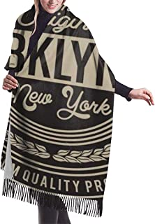 Vectors Decorative scarf T-shirt Graphics Foulard foulard grande /écharpe /à franges Cashmere scarf women Vintage New York Brooklyn Typography