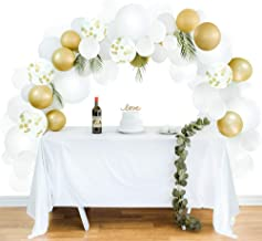 Balloon Garland Kit Balloon Arch Kit Party Decorations White, and Gold Confetti Latex Balloons for Any Party: Wedding, Bachelorette, Graduation, Backyard, Bridal & Baby Showers, Birthday, More