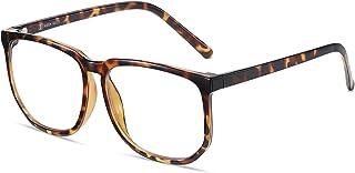 SHEEN KELLY Oversized Grand cadre Lunettes Carré de lunettes anti-lumière bleue Lunettes anti-fatigue Lentille claire pour...
