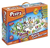 Playz Skylab Adventure Monster Chain Reactions Marble Run Science Kit STEM Toy with Race Tracks for Boys & Girls, Kids Roller Coaster Toy Experiments, Outer Space Theme Park Educational Gift