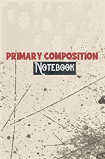 Primary Composition Notebook: floral notebook for Professionals and Students, Teachers / nice gift for girls and boys - si...
