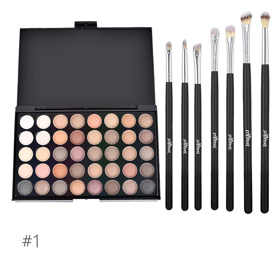 サイドボード血付録アイシャドウトレイ 40色 化粧ブラシセット 化粧ブラシ 化粧筆 6本セット メイクブラシ