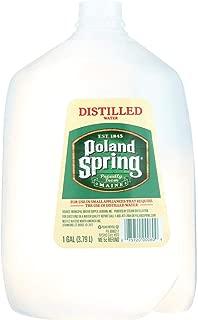 POLAND SPRINGS WATER DISTILLED, 6 1 Gallon Bottles