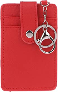 siwetg Porte-Cartes d'identification Portable Carte de Bus étui de Travail sur Le Bureau Porte-clés Outil Rouge