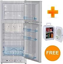 Smad Gas Electric Refrigerator 2 Door Refrigerator with Freezer Propane Refrigerator Camping, 6.1 Cu.ft, White
