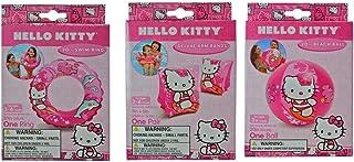 "Hello Kitty Bundle- 3 Items : 20"" Swim ring, Swim Arm Bands, 20"" Beach Ball"