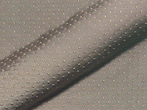 Raumausstatter.de POSADAS 210 - Tela para tapicería, diseño de lunares, color gris