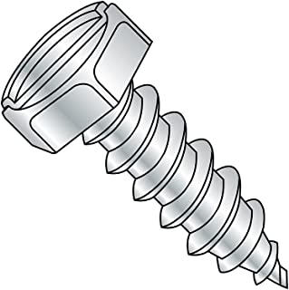 #10-12 Thread Size Type A 1//2 Length Hex Washer Head Zinc Plated Steel Sheet Metal Screw Hex Drive Pack of 100