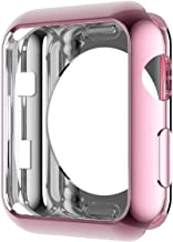 Apple Watch Case 42mm and 38mm, KCFIR Plated TPU Scratch-Resistant Flexible Case Slim Lightweight Protective Bumper Cover for Apple Watch Series 1, Series 2, Series 3 (42mm Rose Gold)