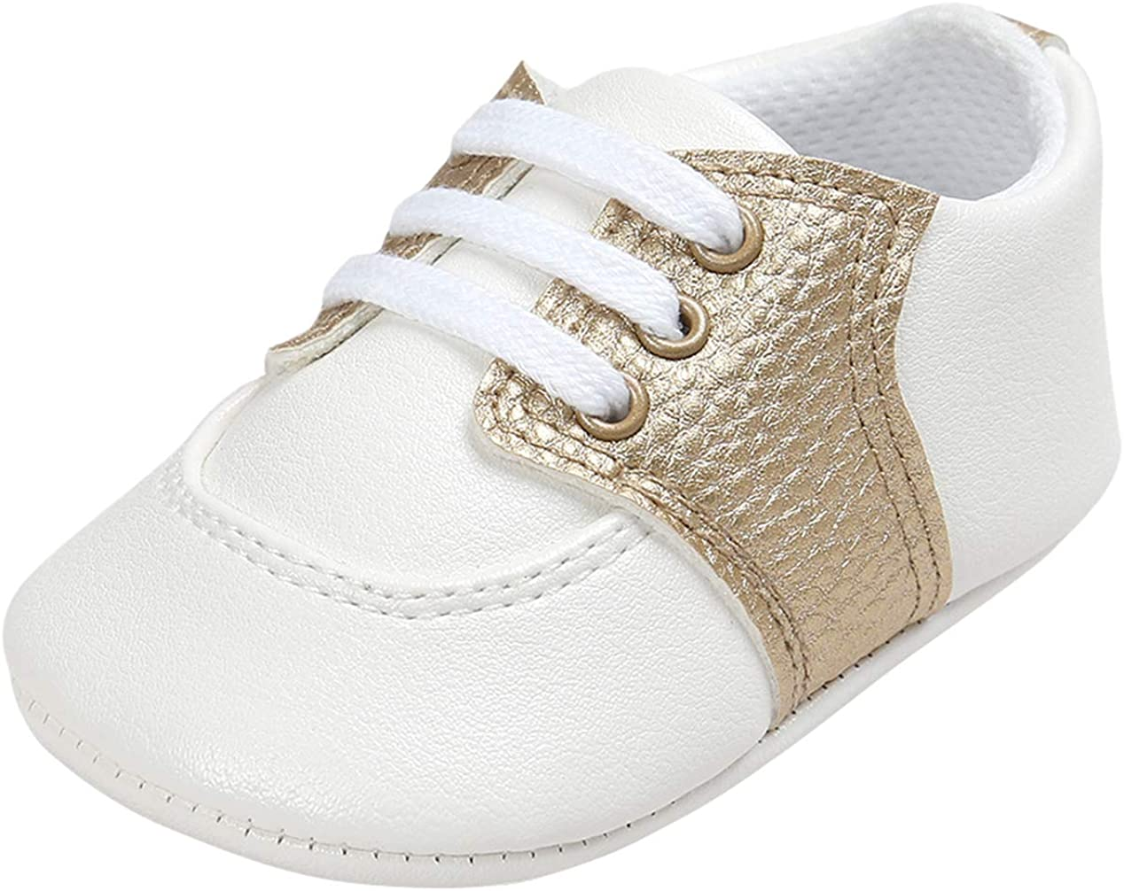 La Vogue Newborn Baby Prewalker Sneakers Soft Sole Moccasins Non-Slip PU Leather First Walking Shoes