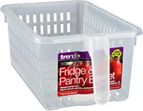 HomeLeisure Fridge and Pantry Basket Fridge and Pantry Basket, Large, Clear, RHFOB001.00