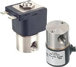 "Gems Sensors A2015-C203 303 Stainless Steel General Purpose Solenoid Valve, 175 psig Pressure, 0.155 Cv, 3/32"" Orifice, 12 VDC Voltage"