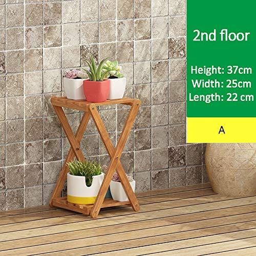 Planken Flower Rack, Huis Bloempot Staander Vloer-, X Design, Waterdicht En Antifouling, Easy Clean, Voor Livingroom Balkon Tuin,A