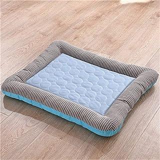 Pet Dog Mat Ice Pad Dog Maty do spania dla psów Koty Hodowla dla zwierząt Fajne zimne jedwabne łóżko dla psa (kolor: niebi...