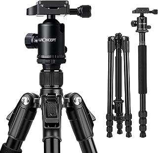 K&F Concept TM2534 Kit Trípode Flexible Cámara Reflex Extensible Unipod Monopod Aluminio con Rótula de Bola Placa Rápida Liberación Trípode Monopié para Canon Nikon Sony GoPro Cámara DSLR y DV
