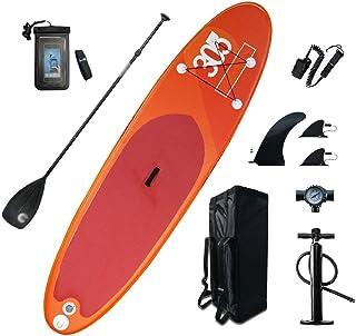 Fklee Tablero de Paleta Inflable de pie Ancho 6 Pulgadas Tablero Sup Grueso con Accesorios Sup y Ancho de Bolsa de Transporte 80 cm for Mantener el Equilibrio Tabla de Surf