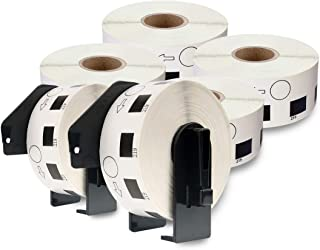 enKo [6 Rolls / 7200 Labels] Compatible for Brother DK1219 Round Label (1/2'') with 2 Cartridge Frame