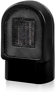 SAKURAM Termoventilador Mini Ventilador Eléctrico Calefactor Eléctrico bajo Consumo Portátil Personal para Cuarto Baño Oficina-Negro