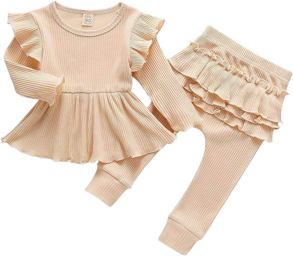 Newborn Baby Boys Girls 2Pcs Long Columbus Mall Pullover Philadelphia Mall Ribbed Sleeve Knitted