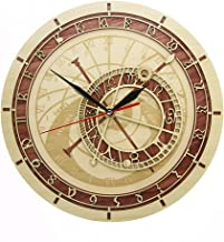 llsmting Wall Clocks Prague Astronomical in Wood Czech Republic Medieval Astronomy Astrology Ative Watch Work Prague Living Room Bedroom Kitchen Office Hotel Gift