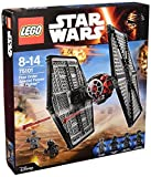 LEGO Star Wars - Pack de 4 minifiguras 2 First Order TIE Fighter Pilots, First Order Officer, First Order Crew (75101) , Modelos/colores Surtidos, 1 Unidad