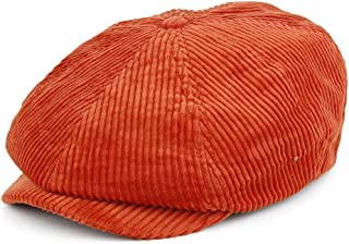 BRIXTON Mens Brood Newsboy Cord Snap Hat Newsie Cap