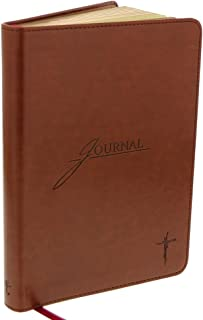 Saddle Tan Flexcover Journal with Cross