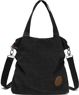 Myhozee Handtasche Damen Canvas Umhängetasche,Taschen Damen Strandtasche Schultertasche Crossover Bag für Mädchen Frauen-S...