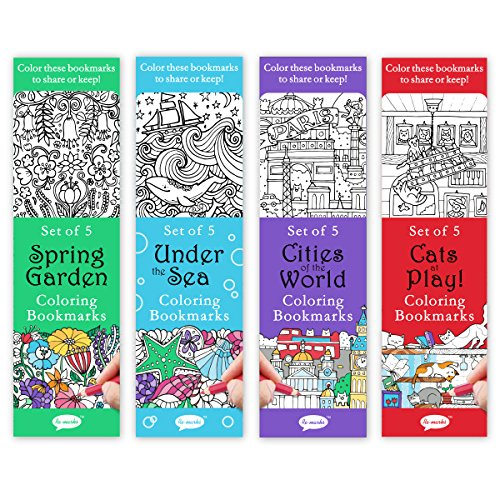 Re-marks Colormarks 4 Pack - Spring Garden, Under The Sea, Cities of The World, Cats at Play