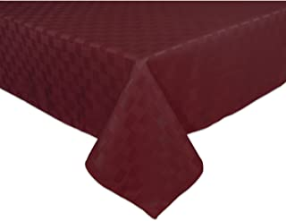 Bardwil Reflections Spill Proof Oblong / Rectangle Tablecloth, 60-Inch x 84-Inch, Merlot