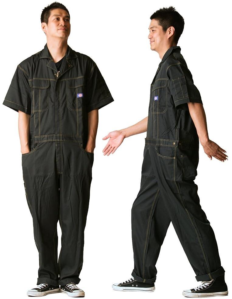 昇進名前を作る承知しましたディッキーズ Dickies (山田辰)夏用半袖 ツヅキ服 711 ネイビーブルー 4Lサイズ