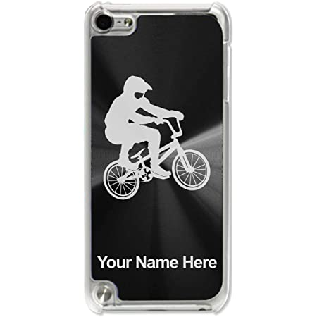 Case Compatible with iPod Touch 5th/6th/7th Generation, BMX Rider, Personalized Engraving Included (Black)