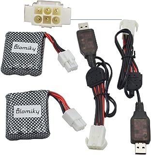 Blomiky New Version 2 Pack EL-6P 9.6V 800mAh Li-ion Battery Fit for S913 S916 S911 S912 9123 9112 1/12 Race Car EL-6P 9.6V Battery 2