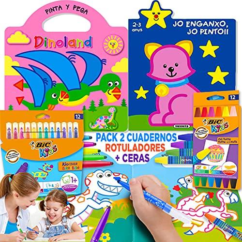 Coleset Manualidades Niños 3 Años Pinturas para Niños Rotuladores Lapices de Colores Entretenimiento Libros para Colorear Niños 2 Años Cuadernos para Colorear Niños Dibujos Colorear Papeleria Infantil