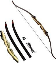 Black Hunter Takedown Recurve Bow and Arrow, Compact Fast Accurate 62