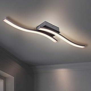 HUOKU Zakrzywione oświetlenie sufitowe LED 2 płyty LED 3000 K ciepłe białe oświetlenie sufitowe pasujące 12 W 1104 lm nowo...