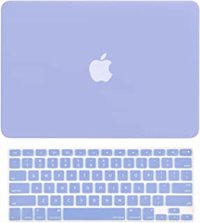 """TOP CASE - 2 in 1 Signature Bundle Rubberized Hard Case and Keyboard Cover ONLY Compatible MacBook Air 13"""" A1369 & A1466 (Older Version, Release 2010-2017) - Serenity Blue"""