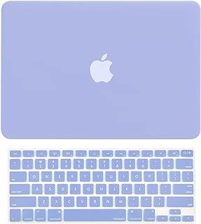 TOP CASE - 2 in 1 Signature Bundle Rubberized Hard Case Compatible Old Gen. MacBook Pro 13.3