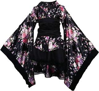 FENICAL Vestito da donna con fiori di ciliegio, ideale per Anime, Cosplay, Lolita, vestito in stile kimono giapponese, tag...