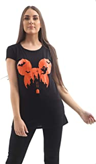 Momo&Ayat Fashions Ladies Horror Mickey Halloween Bat Monster Boyfriend Tshirt Top AUS Size 8-26