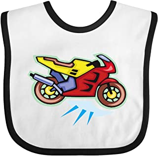 Inktastic Crotch Rocket Motorcycle Baby Bib White/Black