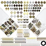 Earring Charm for Jewelry Making Supplies, Earring Making Kit Hypoallergenic- 40 Pair Dangle Earring Charms, with Earring Backs, Earring Hooks, Earring Findings and Stud Earrings for Adult, DIY, Gift