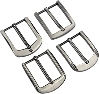 DGOL Leather Craft DIY 4 pcs Gunmetal Strap Prong Pin Belt Buckle Webbing Buckles 1-1/2