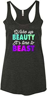 Panoware Women's Funny Workout Tank Top | Wake up Beauty It's Time to Beast