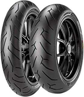 Par Pneu Cb 250 Twister 140/70r17 + 110/70R17 Tl Diablo Rosso II Pirelli
