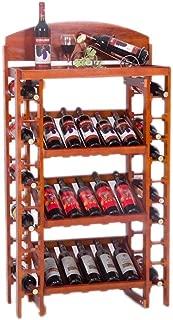WZBワインラック35本木製ワインキャビネットディスプレイスタンドヨーロッパフロア多層ワインラックバーワインセラー2色サイズ73x35x130cm(カラー:B)