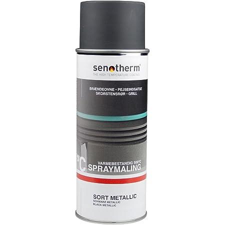 Senotherm Stove Oven Spray Paint 400 Ml Metallic Black Baumarkt