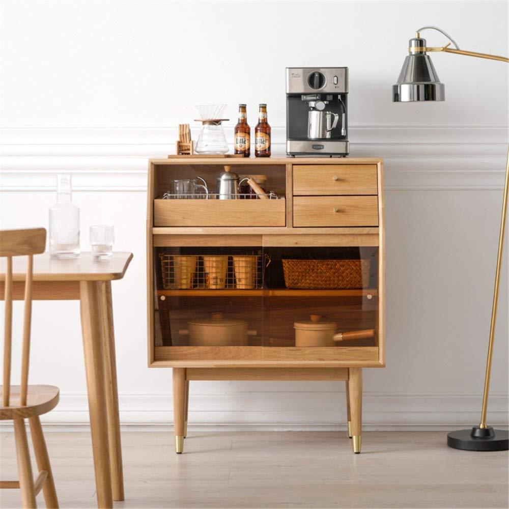 Dfghbn Cómoda Cocina Gabinete de Almacenamiento bufé Aparador con Puerta corrediza de la Cocina casera Comedor Muebles Puerta de Entrada Armario Entrada Armario (Color : Coffee, Size : 80x100x42cm): Amazon.es: Hogar
